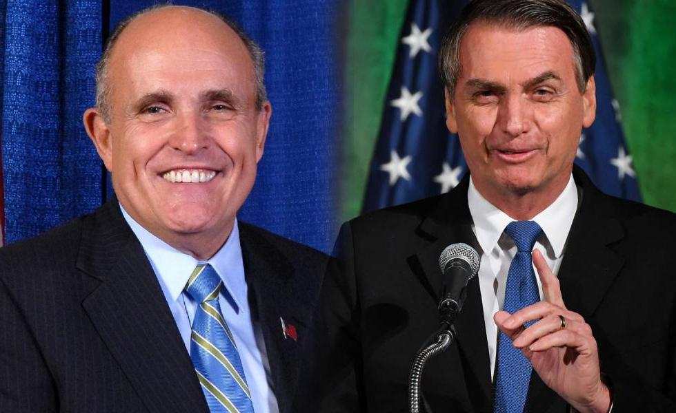 """Ex-prefeito de Nova York, Rudy Giuliani rasga elogios a Bolsonaro: """"Um homem Honesto e religioso"""""""