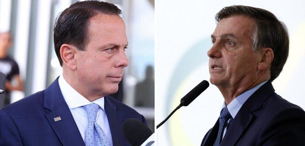 Bolsonaro dá reprimenda em Doria e diz que não permitirá que vacina seja obrigatória
