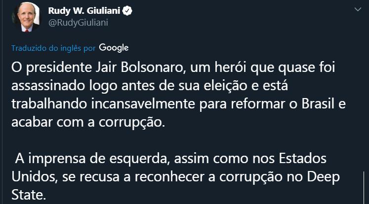 Giuliani e Bolsonaro