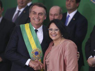 Damares e Bolsonaro