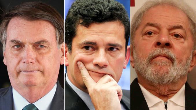 Lula, Moro, Bolsonaro