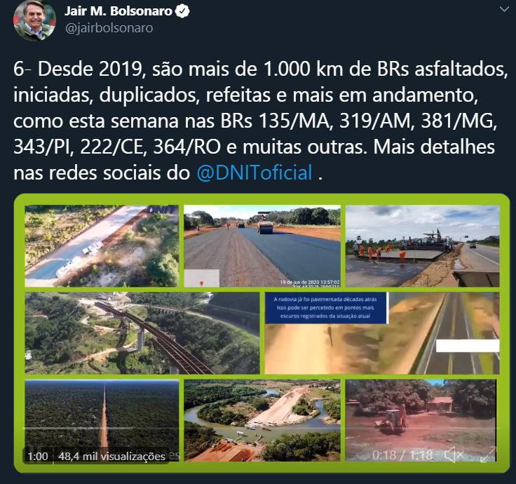 Bolsonaro Obras