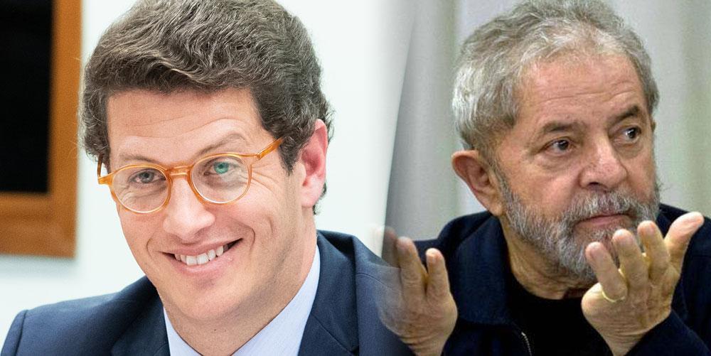 """Após ser atacado, Salles rebate Lula: """"Quem está condenado por corrupção e estava preso até ontem é você!"""""""