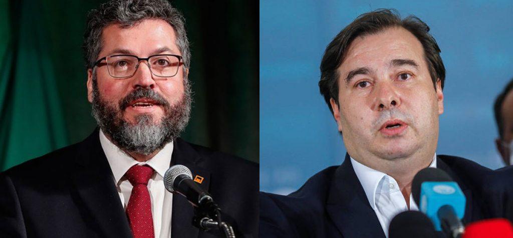 "Ernesto Araújo rebate Maia: ""Só teme a parceria Brasil-EUA quem teme a democracia."""