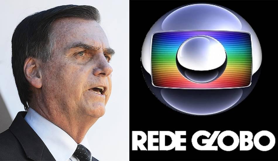 """Bolsonaro divulga reportagem sobre a Globo e afirma: """"Corrupção para valer é com a família Marinho"""""""