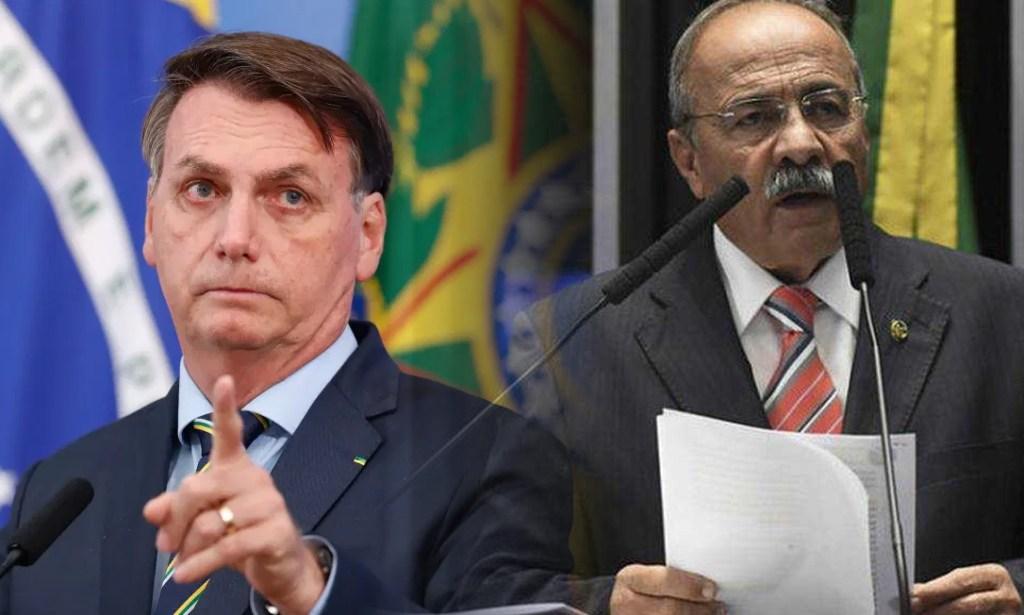 Bolsonaro dá 'voadora no pescoço' e tira da vice-liderança o senador flagrado com dinheiro nas nádegas