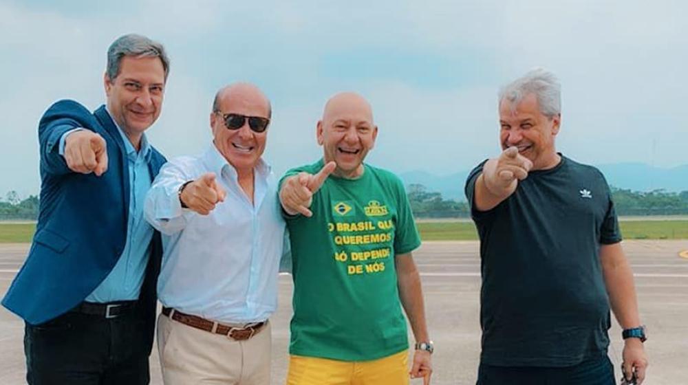 """Sikêra Jr, Lacombe, Luciano Hang e Marcelo de Carvalho se reúnem em Santa Catarina: """"Dia histórico"""""""